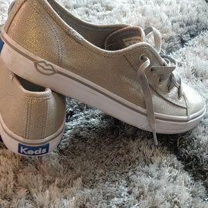 Keds gold shoes